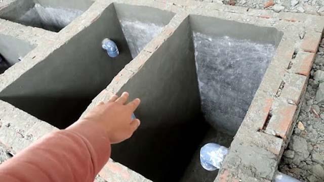 Bể phốt bằng chất liệu bê tông